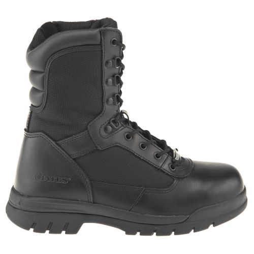 "Bates Men's 8"" Steel-Toe Side-Zip Boots"