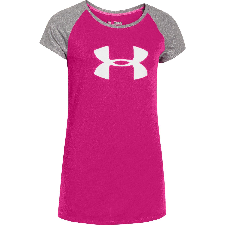 Image For Under Armour Girls 39 Ua Branded Raglan T Shirt
