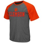 Colosseum Athletics Men's Clemson University Rider Short Sleeve Poly Raglan T-shirt