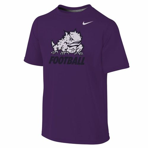 Nike Boys 39 Texas Christian University Locker Room Dri Fit