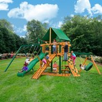 Gorilla Playsets™ Frontier Swing Set with Timber Shield™ and Deluxe Vinyl Canopy - view number 2