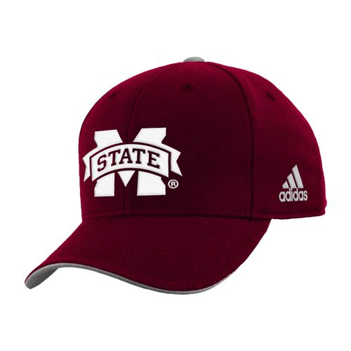 adidas™ Boys' Mississippi State University Basic Structured Adjustable Cap