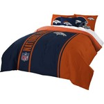 The Northwest Company Denver Broncos Full-Size Comforter and Sham Set