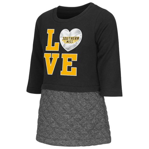 Colosseum Athletics Toddler Girls' University of Southern Mississippi Glitter Dress