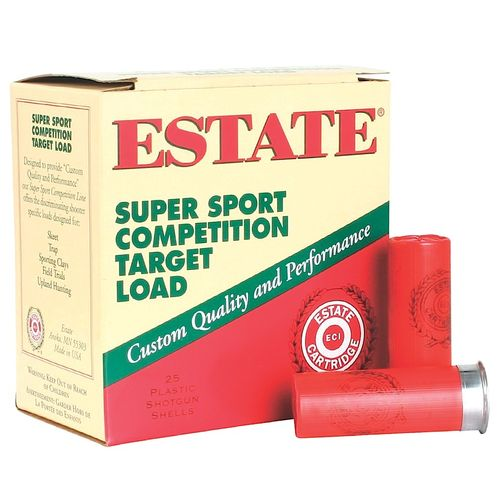Estate Cartridge Super Sport Competition Target Load 12 Gauge #8 Shotshells 250-Round Case