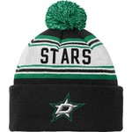 Reebok Kids' Dallas Stars Cuffed Knit Hat with Pom