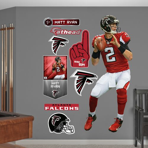 Fathead Atlanta Falcons Matt Ryan Home Real Big Wall Decal - view number 1