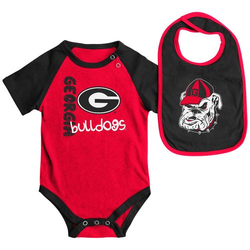 Colosseum Athletics Infants' University of Georgia Rookie Onesie and Bib Set