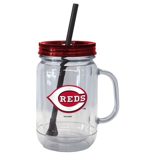 Boelter Brands Cincinnati Reds 20 oz. Handled Straw Tumblers 2-Pack