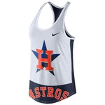Nike Women's Houston Astros Triblend Logo Tank Top