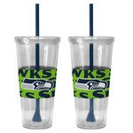 Boelter Brands Seattle Seahawks Bold Neo Sleeve 22 oz. Straw Tumblers 2-Pack