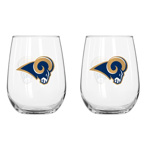Boelter Brands St. Louis Rams 16 oz. Curved Beverage Glasses 2-Pack