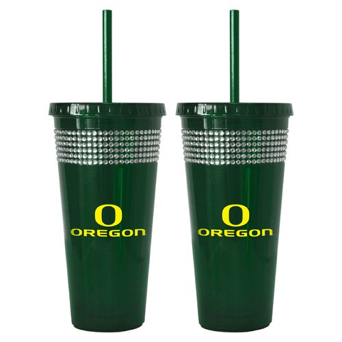 Boelter Brands University of Oregon 22 oz. Bling Straw Tumblers 2-Pack