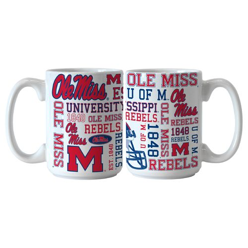 Boelter Brands University of Mississippi Spirit 15 oz. Coffee Mugs 2-Pack