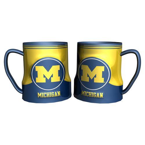 Boelter Brands University of Michigan Gametime 18 oz. Mugs 2-Pack