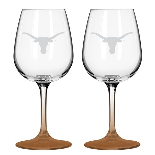 Boelter Brands University of Texas 12 oz. Wine Glasses 2-Pack