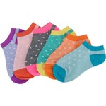 BCG Girls' No-Show Fashion Socks 6 Pairs - view number 3