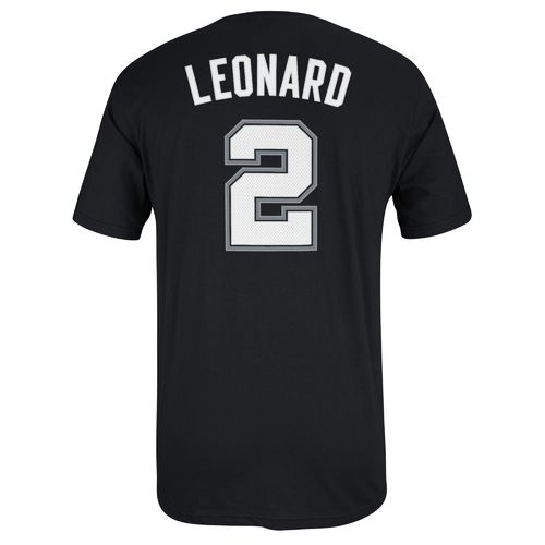 adidas Men's San Antonio Spurs Kawhi Leonard No. 2 Game Time High Density T-shirt