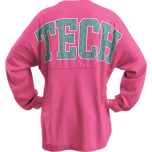 Three Squared Juniors' Texas Tech University Quatrafoil Sweeper Long Sleeve T-shirt