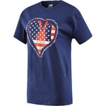 Academy Sports + Outdoors™ Women's Americana 2016 Election Year Peace Heart T-shirt