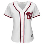 Majestic Women's Washington Nationals Max Scherzer #31 Cool Base Replica Home Jersey - view number 2