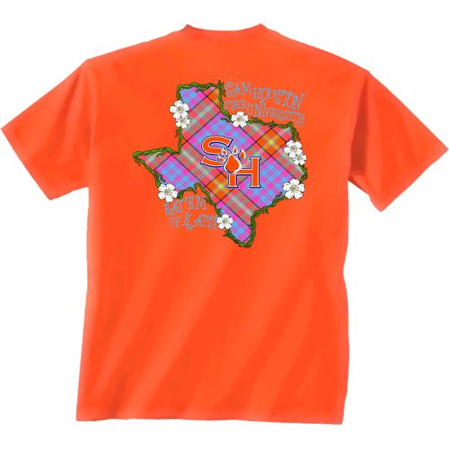 New World Graphics Women's Sam Houston State University Bright Plaid T-shirt