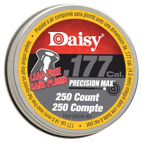 Daisy® 250 .177 (4.5mm) Caliber Flat-Nose Lead-Free Pellets