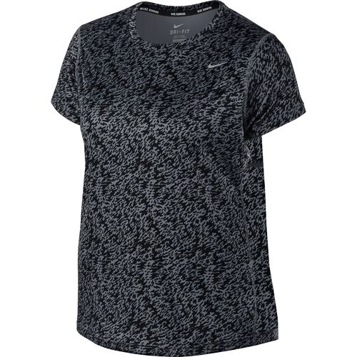 Nike Women's Miler Printed Short Sleeve Plus Size Shirt - view number 1