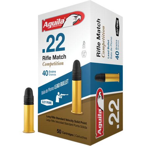 Aguila Ammunition .22 Caliber 40-Grain Match Rimfire Rifle Ammunition