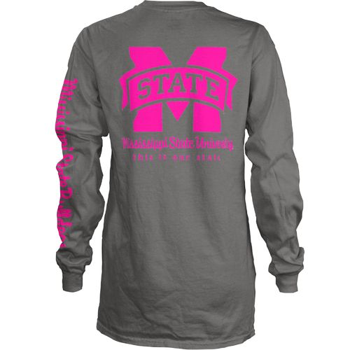 Three Squared Juniors' Mississippi State University Cynthia Pocketed Long Sleeve T-shirt