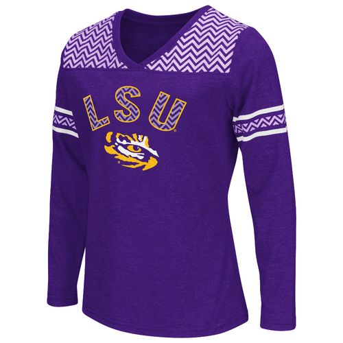 Colosseum Athletics™ Girls' Louisiana State University Cupie Long Sleeve T-shirt