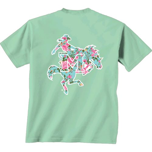 New World Graphics Women's McNeese State University Floral T-shirt