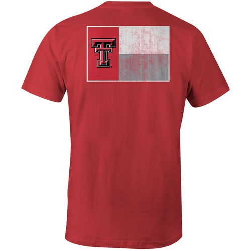 Image One Men's Texas Tech University State Flag Comfort Color T-shirt