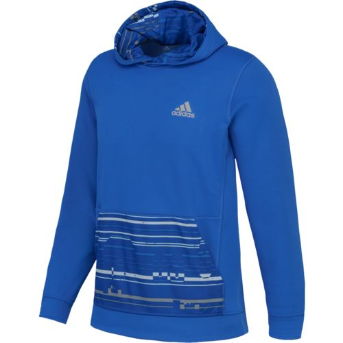 adidas™ Men's Team Issue Sport Glitch Fleece Pullover Hoodie