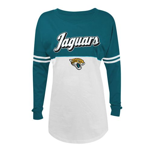 5th & Ocean Clothing Juniors' Jacksonville Jaguars Script Long Sleeve Spirit Jersey