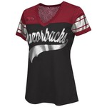 G-III for Her Women's University of Arkansas Pass Rush Fashion Top