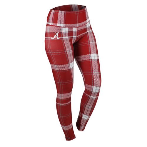 ZooZatz Women's University of Alabama Tartan Plaid Legging