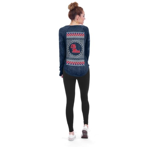 Chicka-d Women's University of Mississippi Favorite V-neck Long Sleeve T-shirt