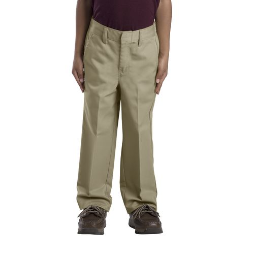 Dickies Boys' Classic Fit Straight Leg Flat Front Pant - view number 1