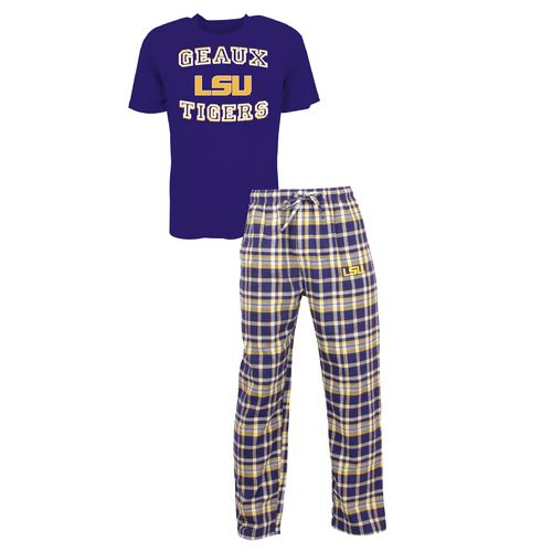 Concepts Sport™ Men's Louisiana State University Tiebreaker Shirt and Pant Set