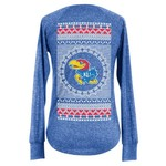 Chicka-d Women's University of Kansas Favorite V-neck Long Sleeve T-shirt