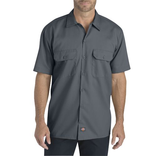 Dickies Men's Flex Relaxed Fit Short Sleeve Work Shirt
