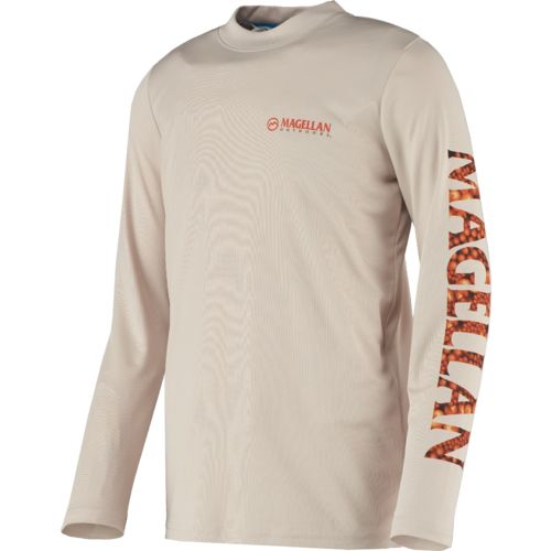Magellan Outdoors™ Boys' Fish Gear Crewman Logo Long Sleeve T-shirt