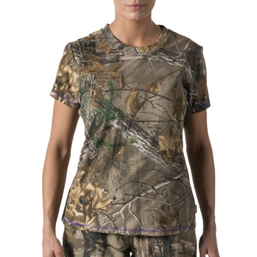 Walls Women's Camo Short Sleeve T-shirt