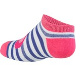 BCG Girls' Hearts and Stripes No-Show Socks 6 Pairs - view number 2