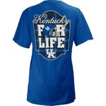 Three Squared Juniors' University of Kentucky Team For Life Short Sleeve V-neck T-shirt - view number 1