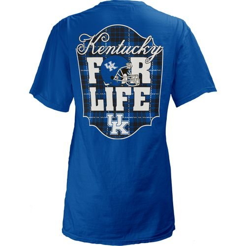 Three Squared Juniors' University of Kentucky Team For Life Short Sleeve V-neck T-shirt