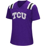 Colosseum Athletics Girls' Texas Christian University Rugby Short Sleeve T-shirt - view number 1