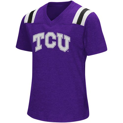 Colosseum Athletics Girls' Texas Christian University Rugby Short Sleeve T-shirt