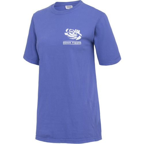 New World Graphics Women's Louisiana State University Comfort Color Puff Arch T-shirt - view number 3